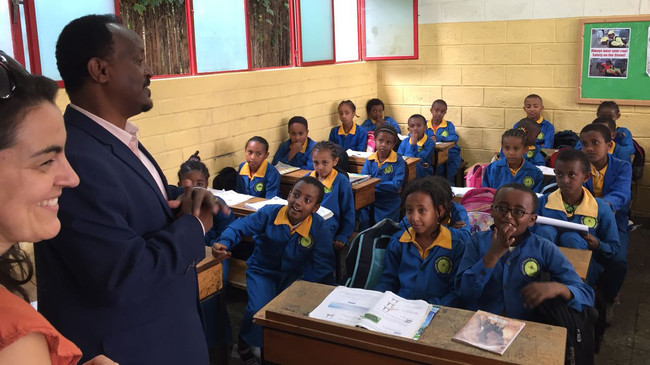 Zu Besuch in der German Church School in Addis. Foto: Samuel Jersak.